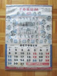 1950-51 SWEET CAPORAL CANADIENS MONTREAL HOCKEY CALENDRIER