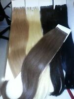 REMY HUMAN CLIP IN HAIR EXTENSIONS - Black, Brown & Blonde color
