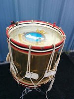 Vintage 1930's Solid Brass Marching Snare Drum, Arrow Jet