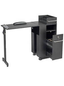 Compact mobile manicure table