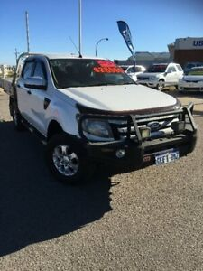 2013 Ford Ranger PX XLS Double Cab White 6 Speed Manual Utility Beresford Geraldton City Preview