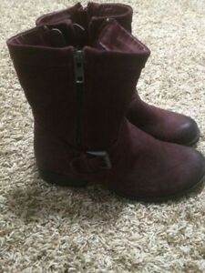 Artica Burgandy Cowhide Leather Boots