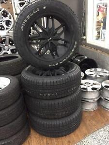 "kit de Mags TOYOTA TUNDRA  20"" GLR 5X150 et pneus 275/55R20 NEUFS"