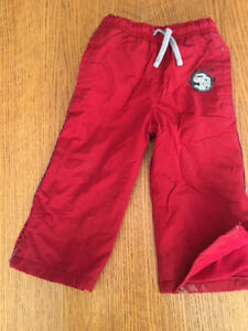 Boys flannel lined pants 24 months