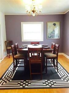 New table and 8 chairs set
