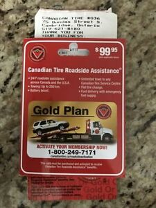 Canadian Tire roadside assistance Gold plan $55 Reg. $99 Cambridge Kitchener Area image 1