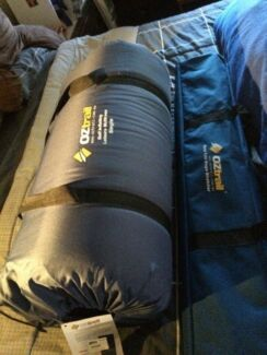 OZ Trail deluxe stretcher bed and self inflating mattress