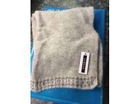 Grey woolly scarf