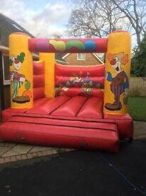 12x12 clown commercial bouncy castle