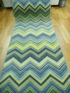 Chevron Zig Zag Retro Funk Lime Ready to go Runner