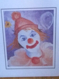 Clown Print Signed & Numbered by the Artist.