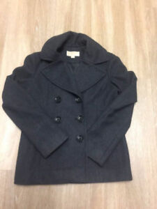 MICHAEL KORS Black Double-Breasted Wool Jacket, size small