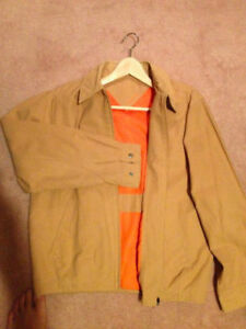 Men's Casual Light Jacket - Light Brown (size small)