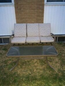 Reclining Patio Chair and Table