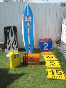 Shelby Surfboard A&W Car Hop Trays Signs Neon Clocks Flags 7UP