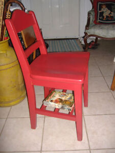 Various vintage children's chairs