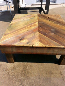 RECLAIMED PRESSURE TREATED PATIO COFFEE TABLE