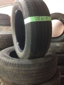 PAIR OF 2 USED 235/60R18 TIRES