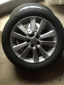 16'' toyota corolla alloy rim with tire pressure monitor system[