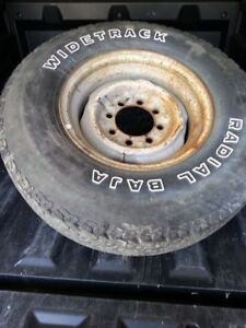 """16"""" tire and rim. 8 bolt pattern."""
