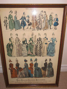 1888 Fashion The Young Ladies Journal Printed In Paris #51 Frame Cambridge Kitchener Area image 1
