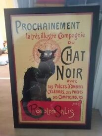 """Poster French style """"Chat Noir"""""""