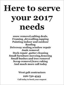 Wes the galt contractors 2017 deals Cambridge Kitchener Area image 1