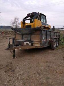 For Sale: 2006 John Deere 317 and 7x14 Snake River Dump Trailer