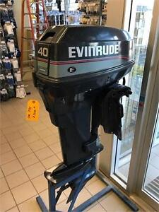 FULLY REBUILT 40HP EVINRUDE AT RECREATIONAL POWER SPORTS!
