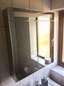 Bathroom Mirror / Double Door Cabinet With Light (Brand new)