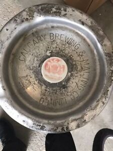 Vintage Calgary Brewing Keg