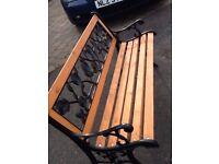 Ornate new garden bench