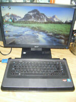 "HP laptop with 19"" monitor for sale in Truro."