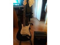 RockJam Stratocaster Electric Guitar with Amp! 50% of RR