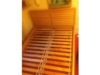 IKEA MALM Beech Effect double bed frame