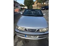 Saab convertible 2/0 turbo 2001 with 12 months mot