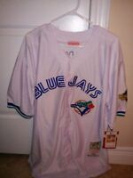 New and Rare: Retro Alomar Cooperstown white jersey Blue Jays XL