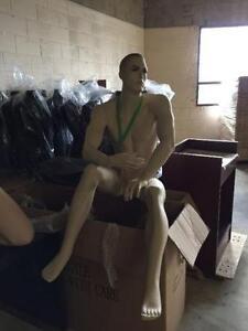 sitting mannequin/male sitting mannequin/ realistic male manneq