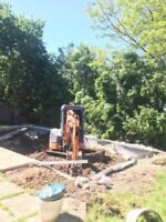 Excavation,Grading,Trench and Concrete Breaking call Mr. Chan