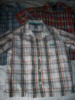 Lot de 2 petites chemises à manches courtes pour garçon 6 ans