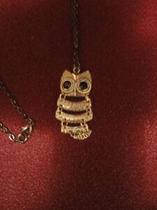 Beautiful Long Owl Pendant New