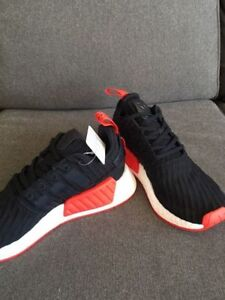 Adidas NMD r2 black/red size 9