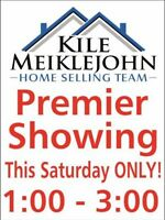 **Premier Showing** Open 1-3pm This Sat ONLY!!