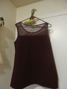 Cute Quilted/Mesh Sleeveless Top Reduced