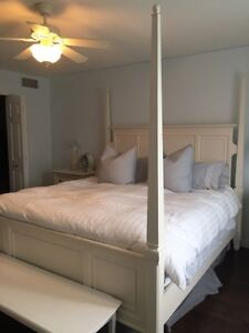 ASHLEY KING SIZED FOUR POSTER BED