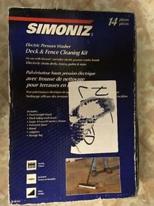 SIMONIZ ELECTRIC PRESSURE WASHER DECK AND FENCE CLEANING KIT 14