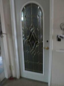 Exterior Glass Door with fancey glass bevel
