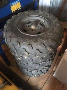 Kawasaki steel rims with tires