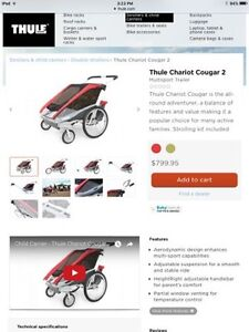 Thule chariot stroller- Cougar 2