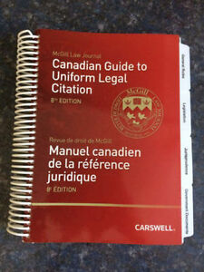 Canadian Guide to Uniform Legal Citation: 8th Edition